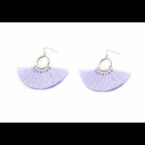 Jewelry - Lavender fan/fringe earrings